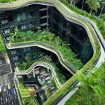 Отель Parkroyal on Pickering с вертикальным зелёным парком, Сингапур