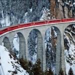 Виадук Ландвассер (Landwasser Viaduct), кантон Граубюнден, Швейцария