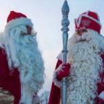 Дед Мороз и Йоулупукки встретились на границе