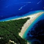 Золотой рог (Zlatni Rat) – самый красивый пляж в Хорватии (Бол, остров Брач, Средняя Далмация)