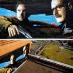 Недоступная достопримечательность: граффити «Во все тяжкие» на крыше многоэтажки
