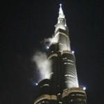 Самый высокий небоскреб в мире горит в Дубае