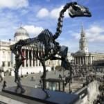 Скелет лошади появился на Трафальгарской площади