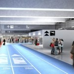 В аэропорту Токио сделали беговые дорожки для пассажиров