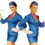 Стюардессы устроили показ мод в Домодедово