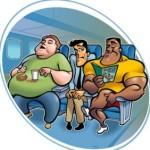 Пассажир судится с авиакомпанией из-за толстого соседа
