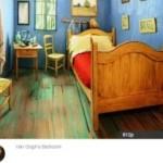 Пожить в комнате как на картине Ван Гога можно за 10 долларов
