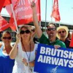 Бортпроводники «Британских Авиалиний» проведут забастовку в Рождество